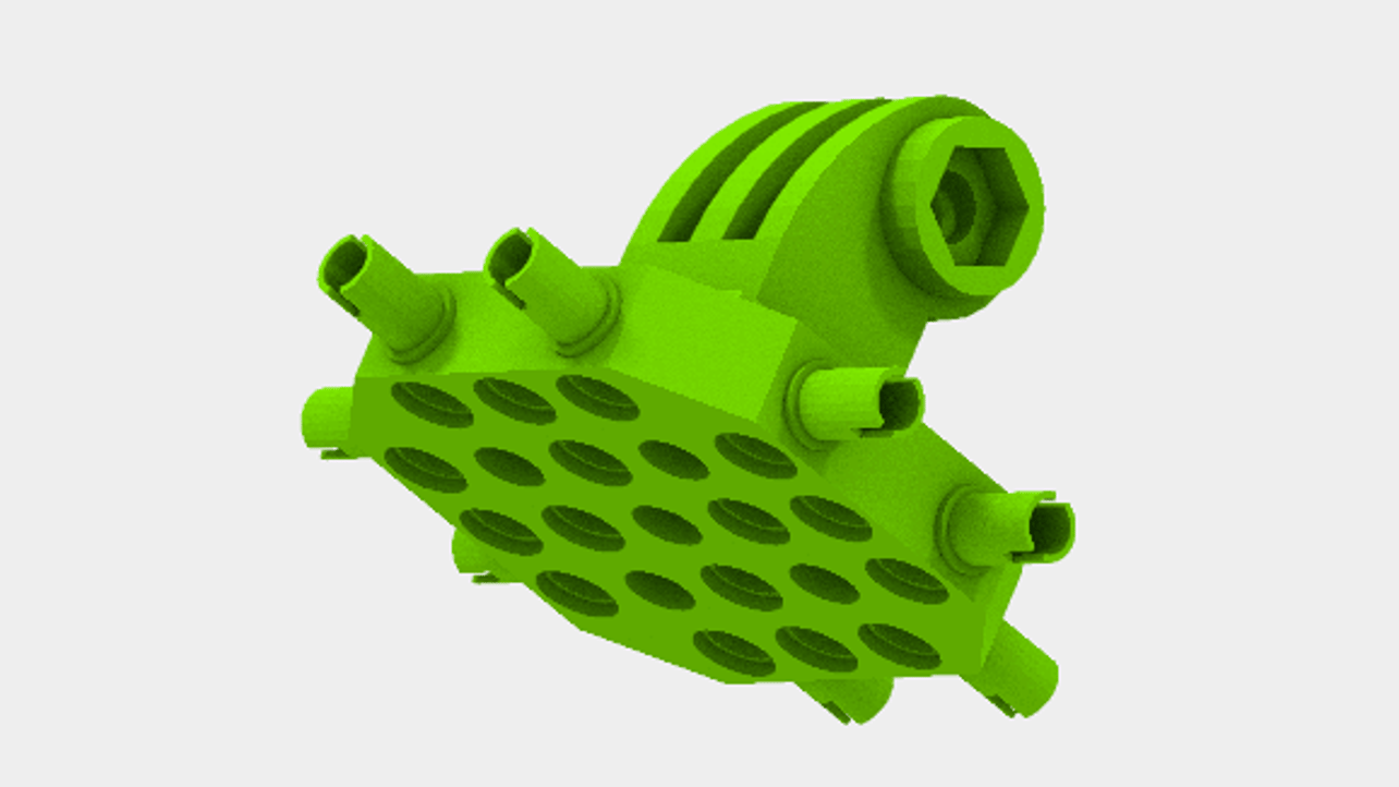 Featured image of 3D Printed GoPro Mount for Lego Mindstorms