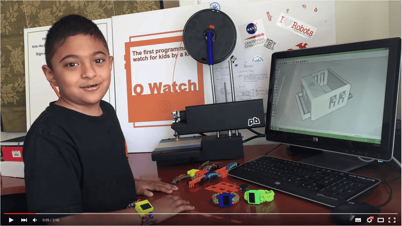 Featured image of 8 Year Old Kid Designs 3D Printed Arduino Smartwatch