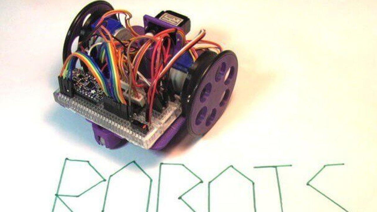 Featured image of Build a Low-Cost, Arduino-Powered Drawing Robot