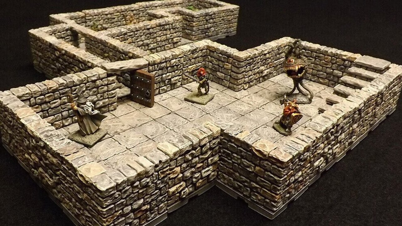 Featured image of Dragonlock: 3D Printable Dungeon Terrain for Roleplaying Games