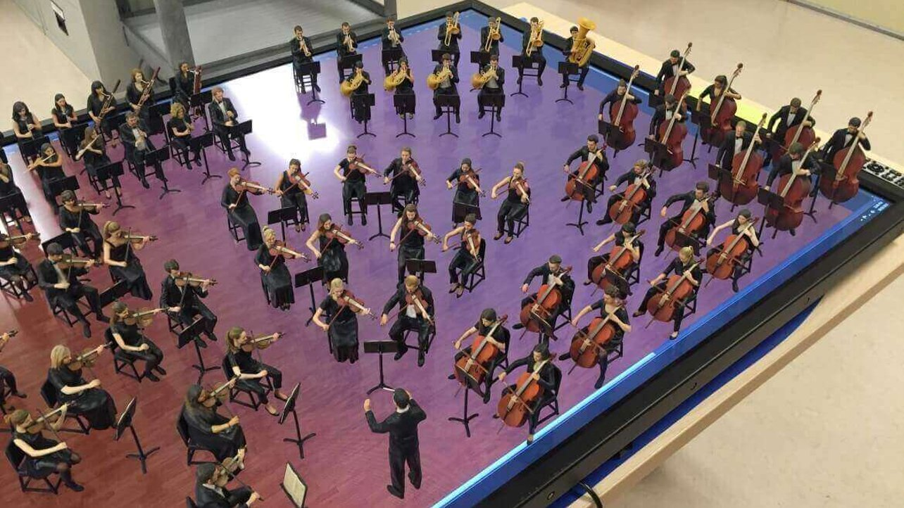 Featured image of Entire Symphony Orchestra 3D Printed in Miniature