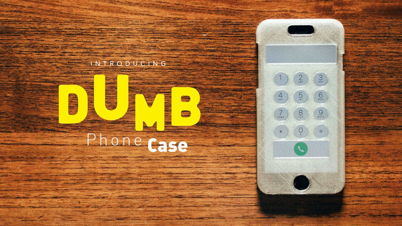 Featured image of 3D Printed Dumbphone Case Makes Your Smartphone… Better!