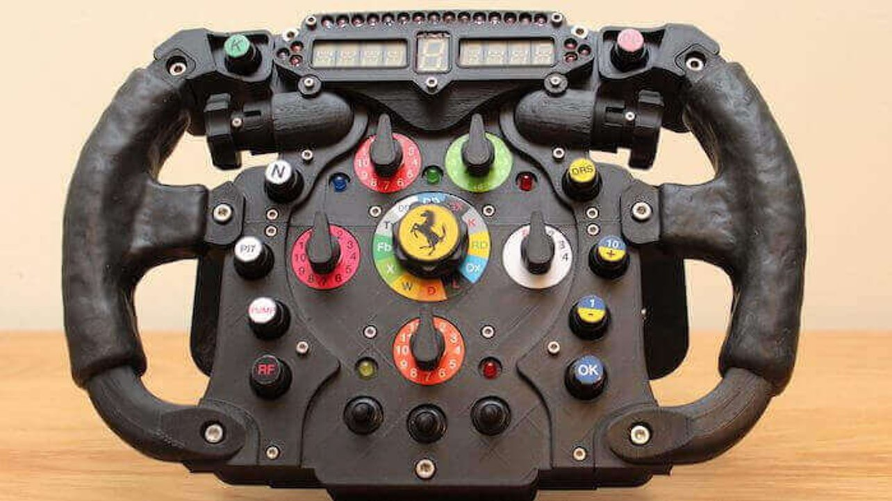 Featured image of 3D Printed Formula One Wheel is Perfect for Racing Sims