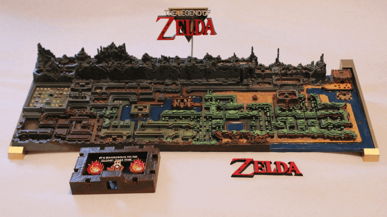 This Stunning 3D Printed Zelda Map Was Made in Minecraft ...