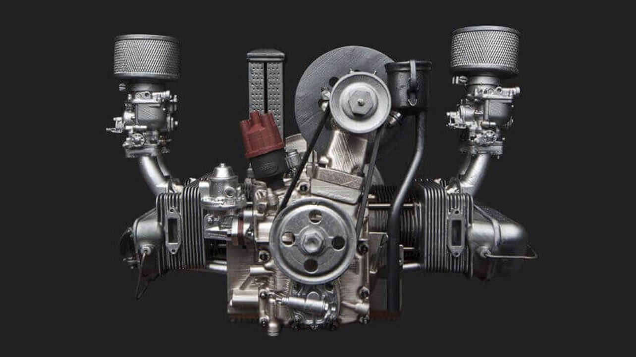 Featured image of Porsche Fan Creates Model Engine Using Laser Scanning and 3D Printing