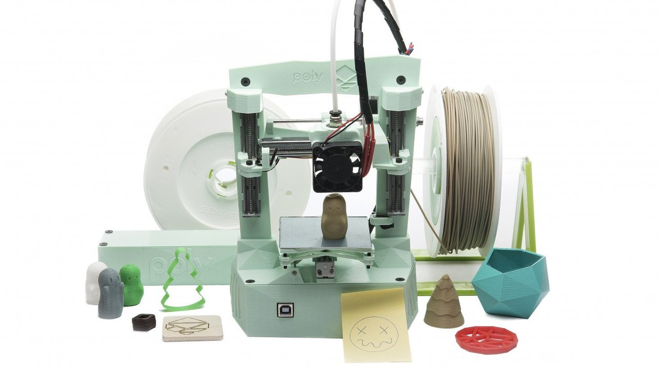 Featured image of Poly Is A Battery-Powered, Biodegradable, Up-Cycled 3D Printer