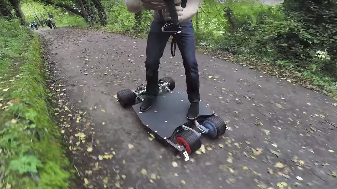 Featured image of Maker Builds BatBoard, A Batman-Themed Electric Skateboard