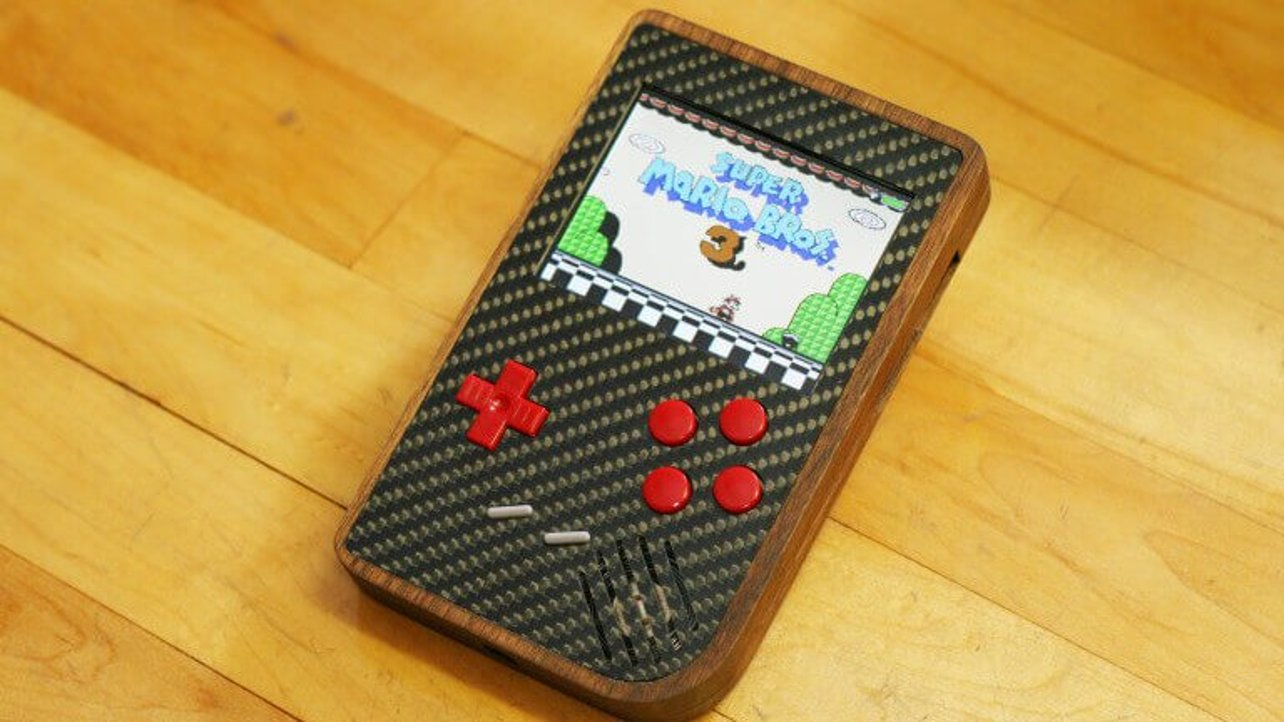 Featured image of American Walnut & Carbon Fiber: A Raspberry Pi-Powered Game Boy Extravananza