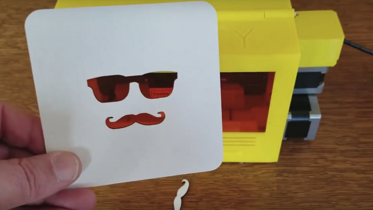 Featured image of The Coasty Toaster – Laser Cutter for 3D Printed Coasters Gets a Serious Update