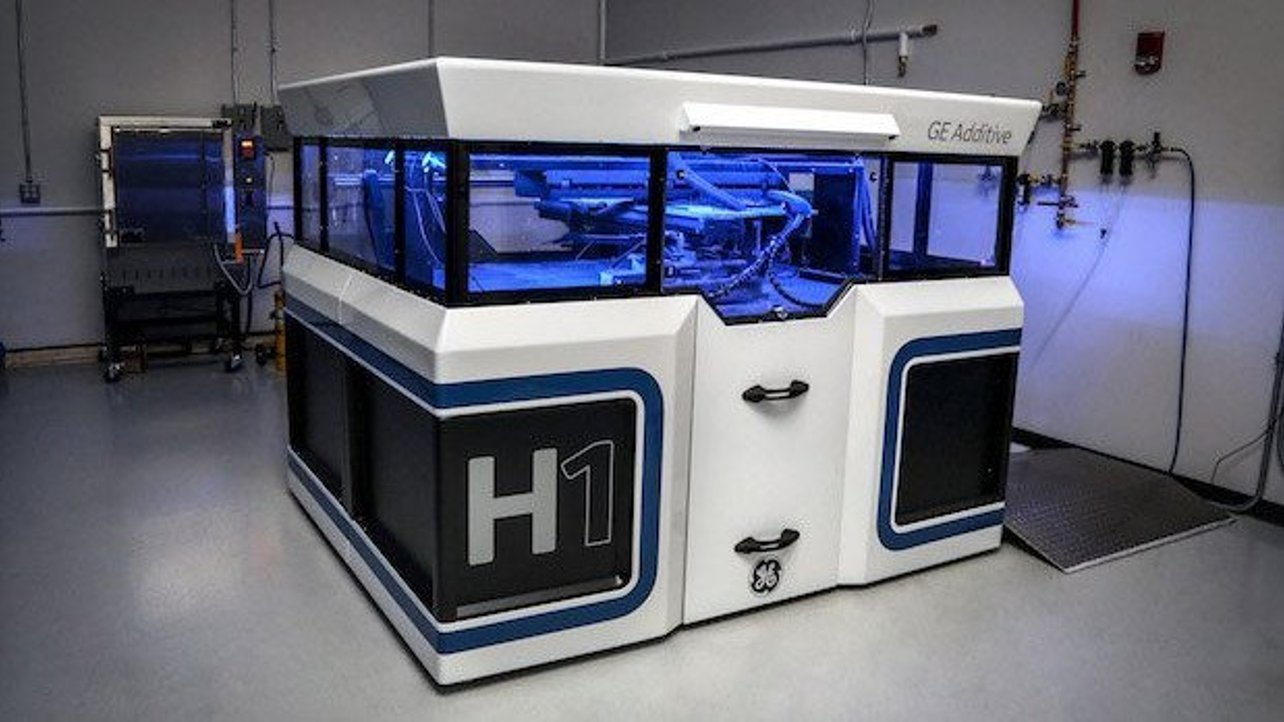 Featured image of GE Additive Releases Photo of H1 Binder Jet Additive Manufacturing Machine