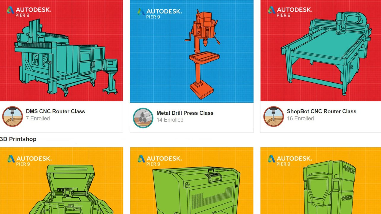Featured image of Autodesk's Pier 9 Releases Free Workshops for Wood, Metal, CNC & 3D Print Machinery