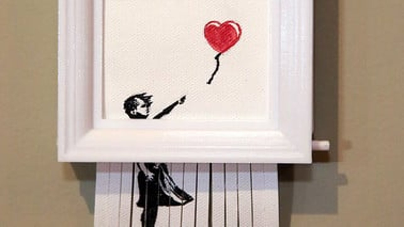 """Featured image of [Project] Become Banksy With This 3D Printed Replica of the Self-Destructing """"Love is in the Bin"""""""