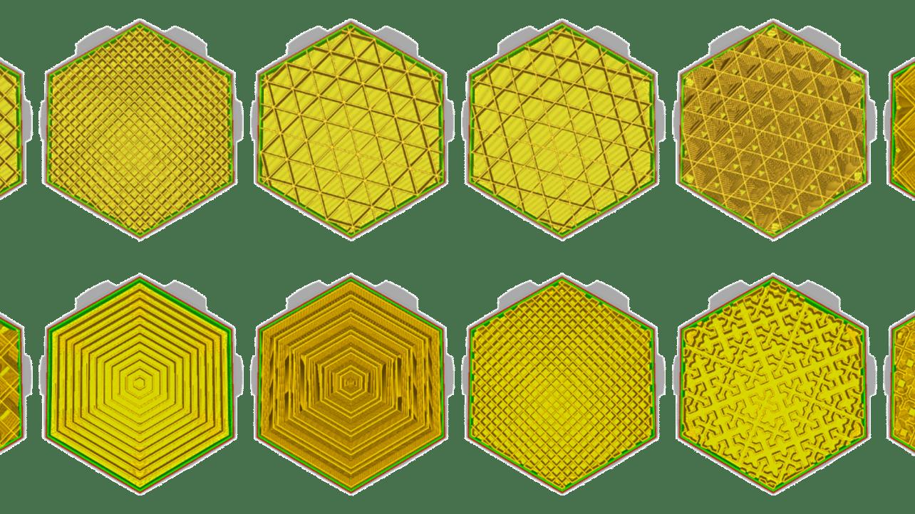 Imagen principal de Infill en Cura: los mejores patrones de relleno