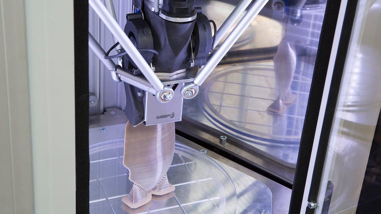 Featured image of WASP Debuts Medical-Grade Pellet PEEK 3D Printer