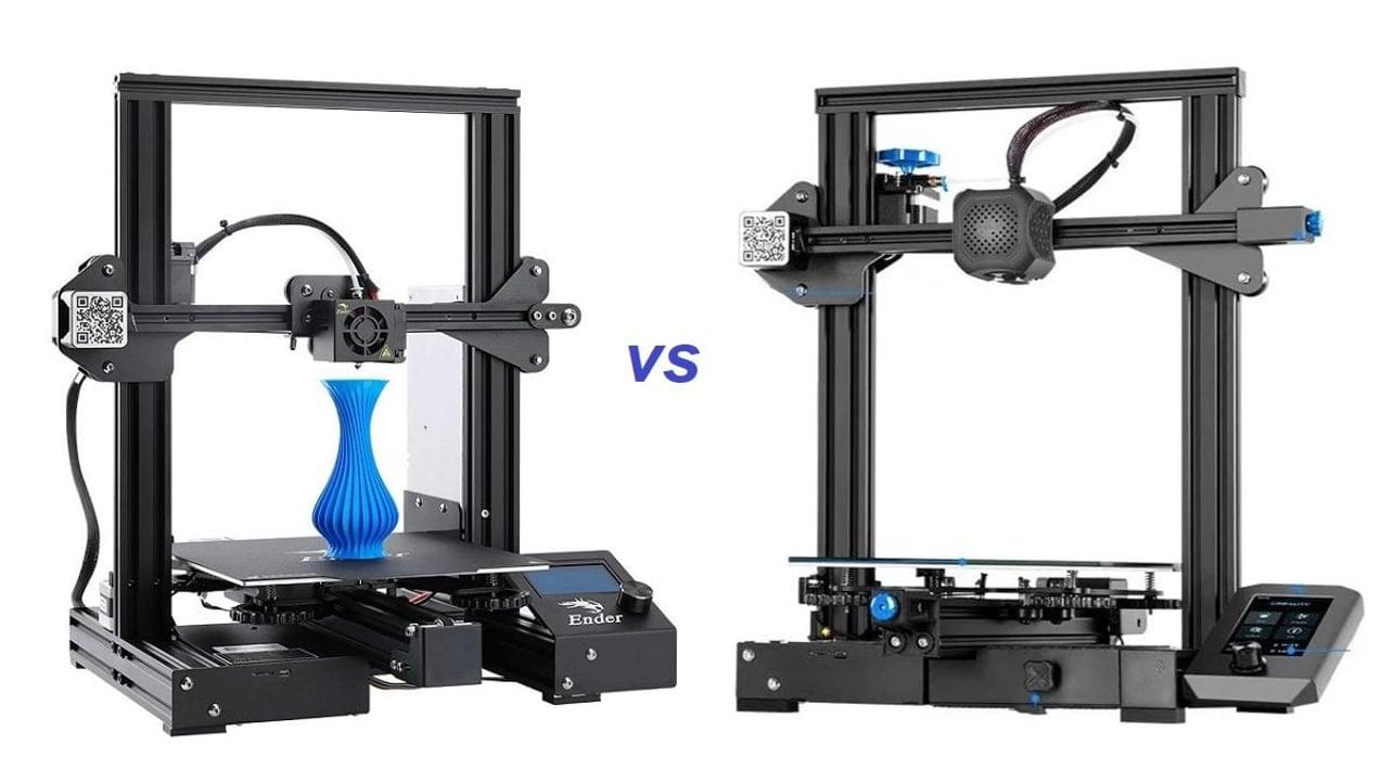 Image de l'en-tête de Creality Ender3 (Pro) vs Ender3 V2: les différences