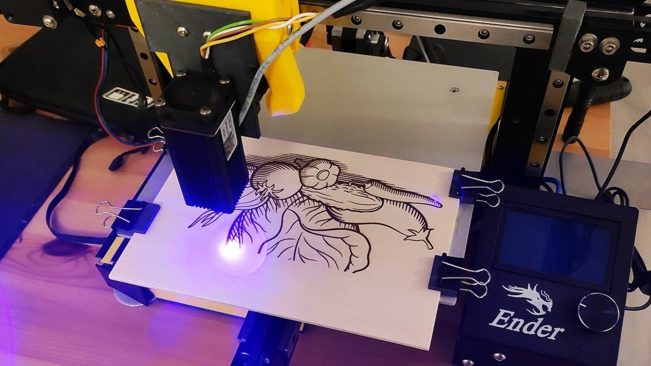 Featured image of How to Convert Your 3D Printer to a Laser Cutter/Engraver