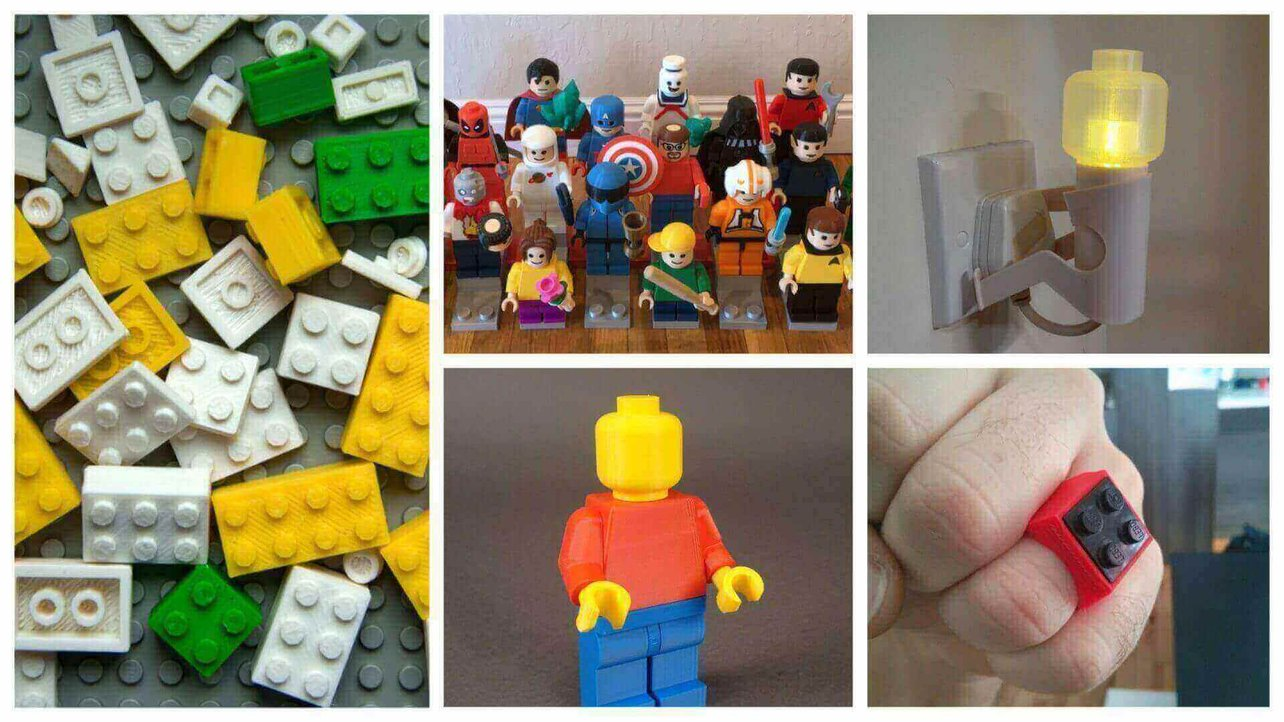 3D Print Lego - 40 Fantastic Lego Parts and Minifigs to 3D