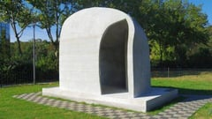 Featured image of Europe's First 3D Printed Pavilion Built with Additive Construction