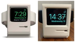 Featured image of Buy this Classic Mac Stand for Apple Watch (or 3D Print it for Free)