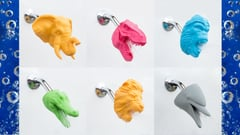 Featured image of Shower with a 3D Printed Dolphin, Dinosaur or Dragon Head from Zooheads