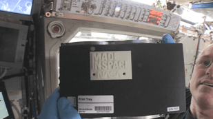 Featured image of This is the first 3D printed piece from the ISS