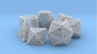 Featured image of 3D Printed Deathly Hallows Dice Set