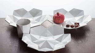 Featured image of Czech Cubism Is 3D Printed As Fancy, Gorgeous Dinnerware