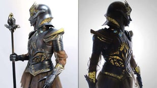 Featured image of Stunning Sovereign Armor from 91 3D Printed Pieces