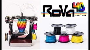 Featured image of RoVa4D Full Colour Blender 3D Printer on Kickstarter
