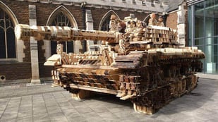 "Featured image of ""Printing"" with Plywood: Deconstruction and Reconstruction of an Army Tank"