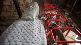 Featured image of Bull of Nimrud Destroyed by Isis recreated with 3D Printing