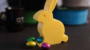 Featured image of [Project] 3D Print a Chocolate Easter Egg Dispenser Bunny