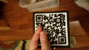 Featured image of Redditor 3D Prints WiFi Password as a QR Code Coaster