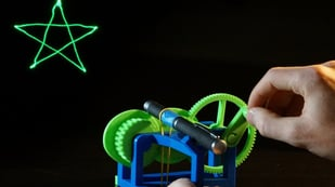 Featured image of [Project] 3D Print Your Own Mechanical Laser Show!