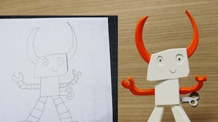 Featured image of Dad Turns his Kid's Drawing into a 3D Printed Toy