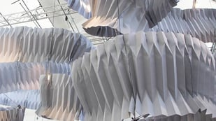Featured image of This Folded Sculpture Captures the Pollution from the Air