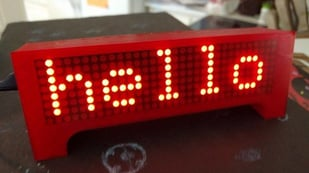 Featured image of [Project] Get Your Message Across with this 3D Printed LED Marquee Scroller
