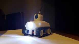 Featured image of [Project] 3D Print a Servo-Driven Tiny FPV Tank (with a Camera!)
