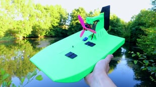 Featured image of [Project] Set Sail in This 3D Printed RC Airboat