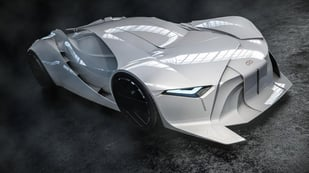 Featured image of David Bowie Tribute Car: A 3D-Printing First