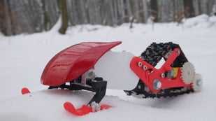 Featured image of [Project] Shred in this 3D Printed Snowmobile