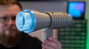 Featured image of [Project] 3D Print a Human-Scale LEGO Space Blaster With Sounds & Lights