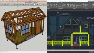 Featured image of SketchUp vs AutoCAD – CAD Software Compared