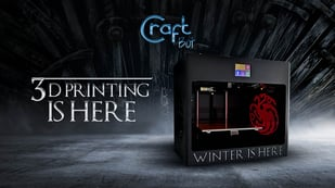 Featured image of CraftBot Brings Game of Thrones Figures to Life With 3D Printing