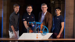 Featured image of University of Glasgow Students 3D Print 800-Parts Steam Engine Model to Honor James Watt