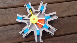 Featured image of [Project] 7-axis Hand-Cranked Radial Engine Model