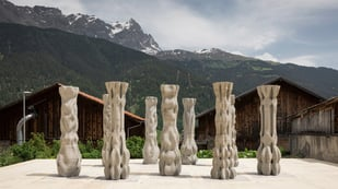 Featured image of 3D Printed Concrete Pillars Set the Stage at the Origen Festival
