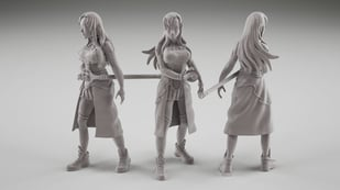 Featured image of 3D Print Anime Figures (STL Files): 10 Best Sites