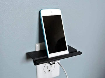 Image of Cool Things to 3D Print: Wall Outlet Shelf