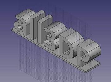 Imagem de Software para impressora 3D: software de modelagem 3D: FreeCAD